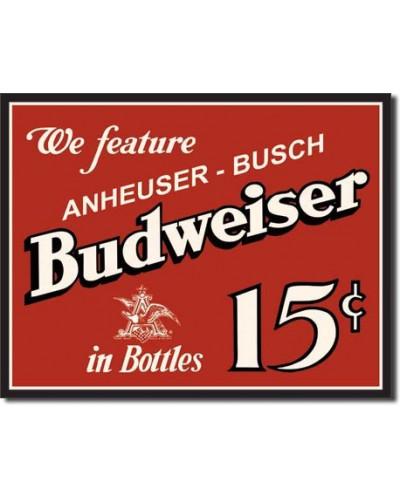 cedule Budweiser 15 cents