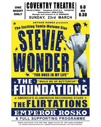 plakát Stevie Wonder, UK, 1969