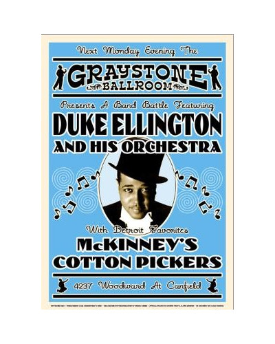 plakát Duke Ellington, 1933
