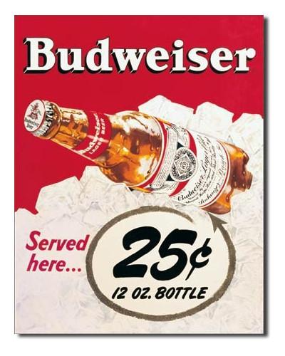 Cedule Budweiser - 25 Cent