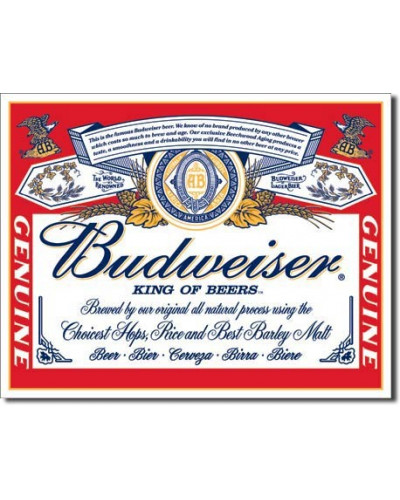 Cedule Budweiser - Label