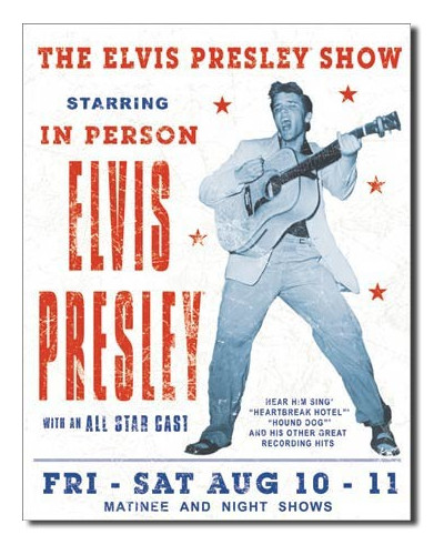 Cedule Elvis Presley Show