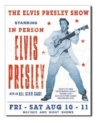 Plechová cedule Elvis Presley Show 40 cm x 32 cm