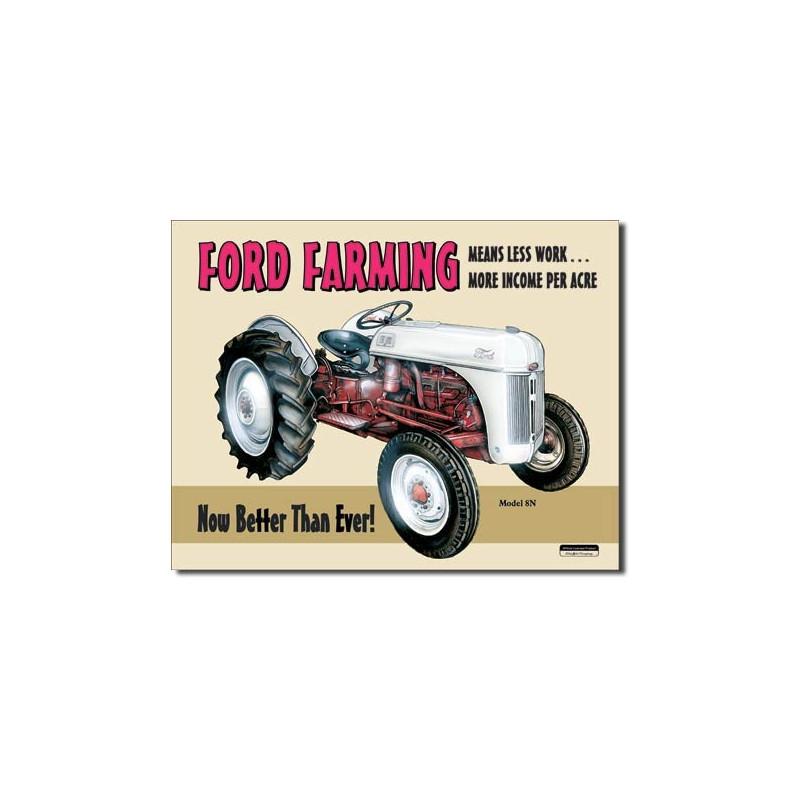 Plechová cedule Ford Farming 8N 40 cm x 32 cm