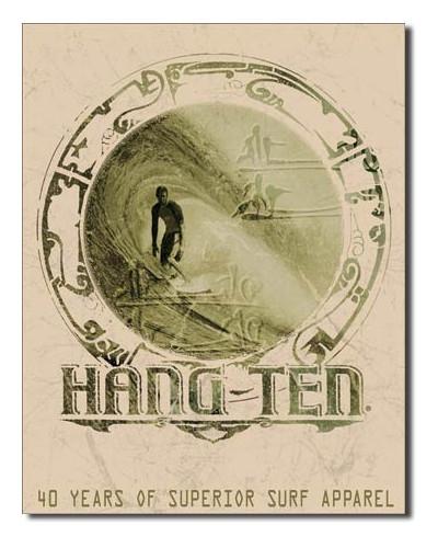Plechová cedule Hang ten Good Fortune