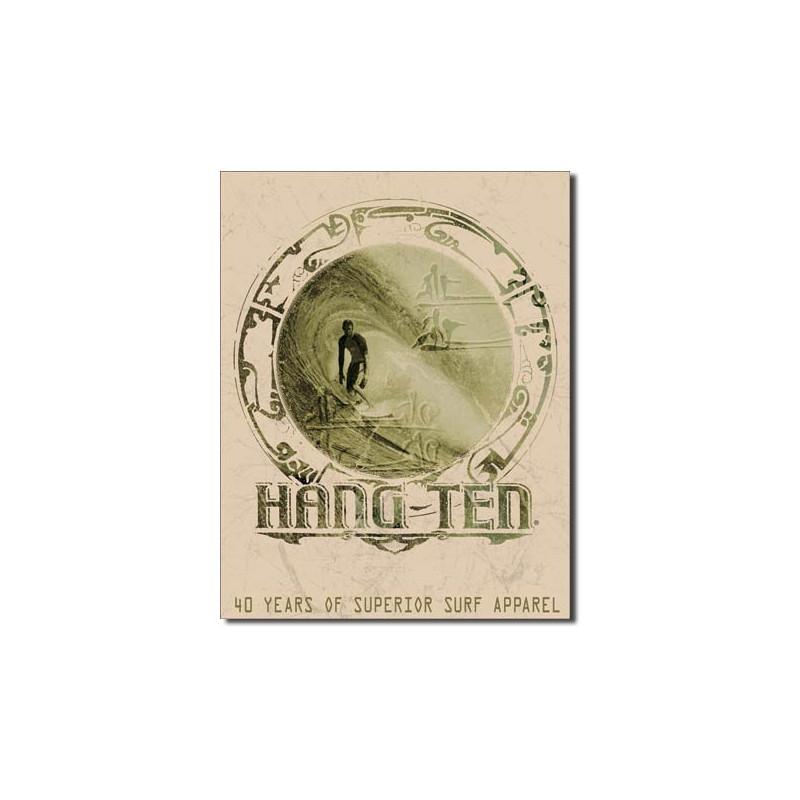 Plechová cedule Hang ten Good Fortune 40 cm x 32 cm