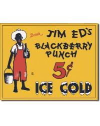 Plechová cedule Jim Eds Blackberry Punch 40 cm x 32 cm