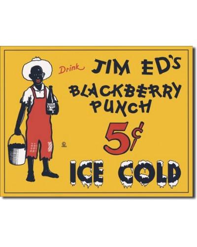 Plechová cedule Jim Eds Blackberry Punch