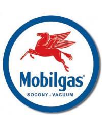 Plechová cedule Mobilgas Pegasus round 30 cm