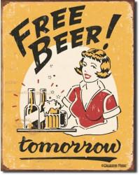 Plechová cedule Moore - Free Beer 40 cm x 32 cm