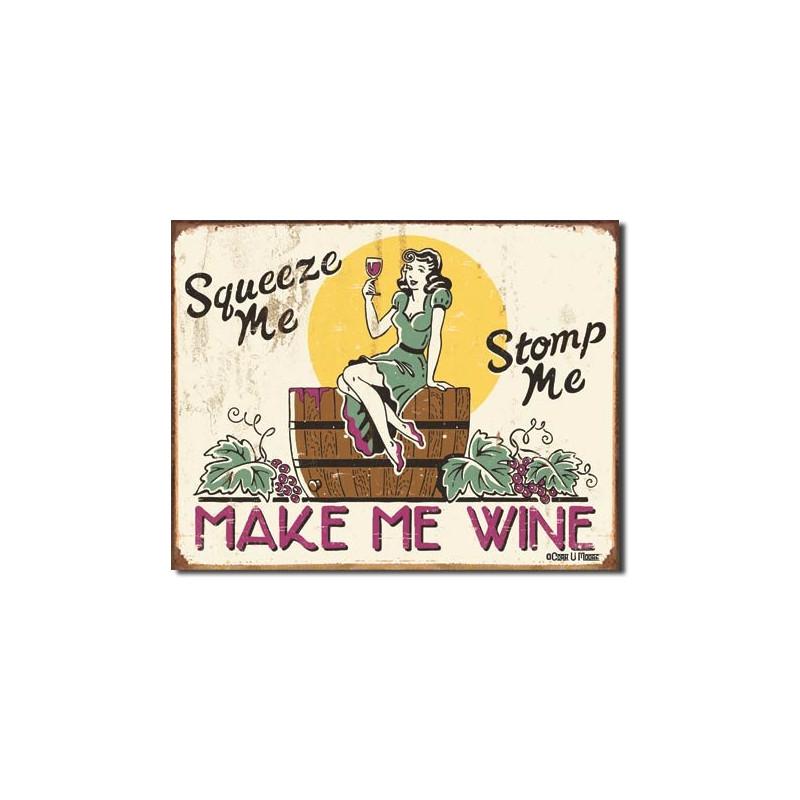 Plechová cedule Moore - Make me Wine 40 cm x 32 cm