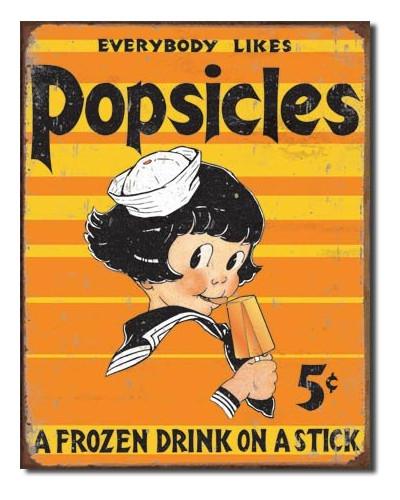 Plechová cedule Popsicle - Everbody Likes 40 cm x 32 cm