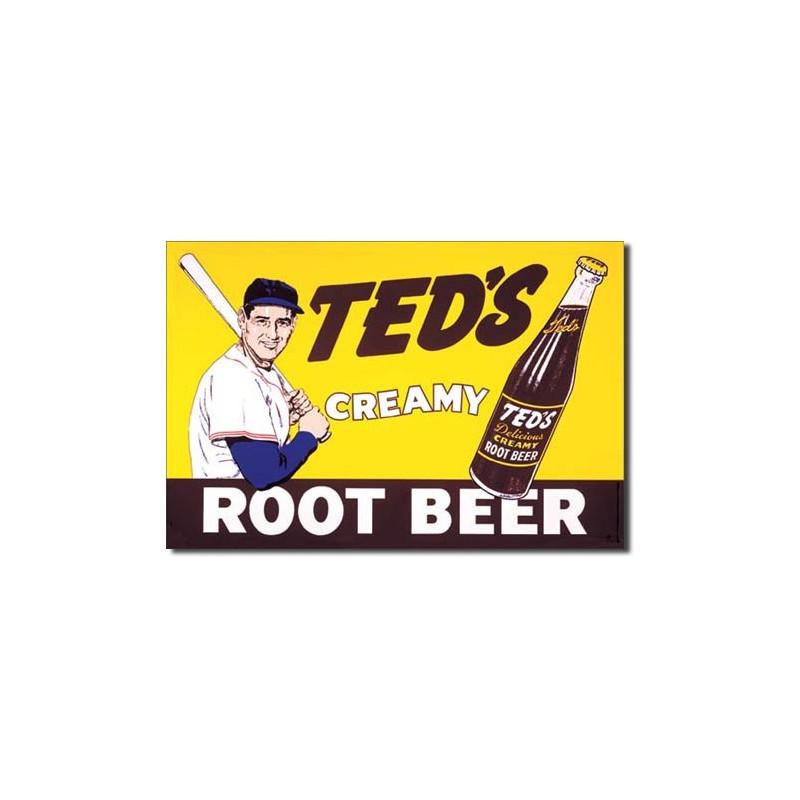 Plechová cedule Teds Creamy Root Beer 40 cm x 32 cm