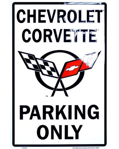 Plechová cedule Chevrolet Corvette Parking
