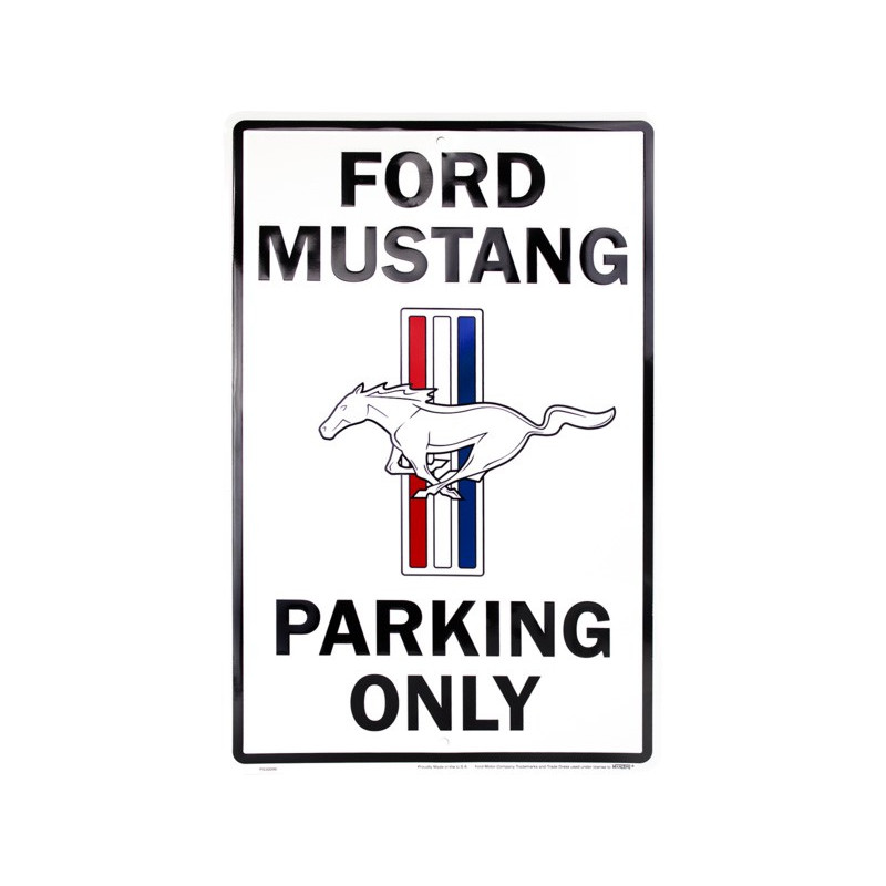 Plechová cedule Ford Mustang Parking 30cm x 45 cm
