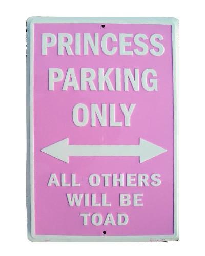 Plechová cedule Princess Parking 20cm x 30 cm