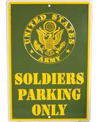 Plechová cedule Soldiers Parking Only 30cm x 45 cm