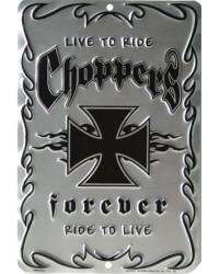 Plechová cedule Choppers forever