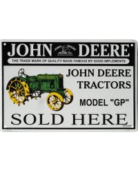 Plechová cedule John Deere Tractors 45 cm x 30 cm