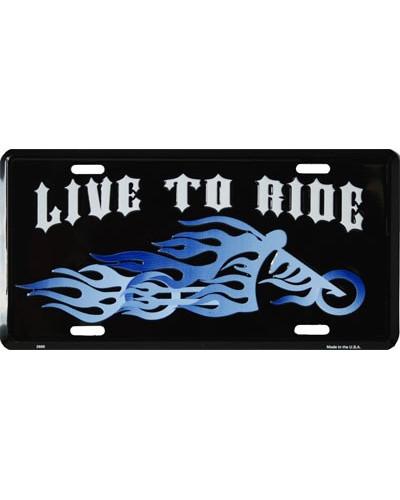 Americká SPZ Live to Ride