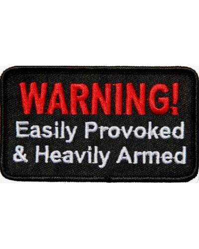 Moto nášivka Warning - provoked