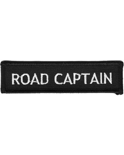 Moto nášivka Road Captain white 10 cm x 2,5 cm