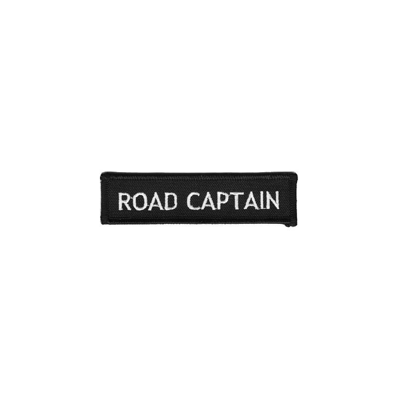 Moto nášivka Road Captain white 10 cm x 2,5 cm