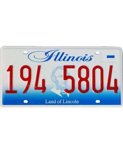Americká SPZ Illinois Lincoln new