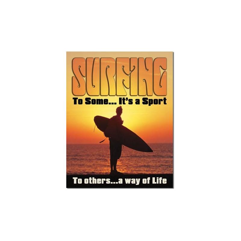 Plechová cedule Surfing - Way of Life 32 cm x 40 cm