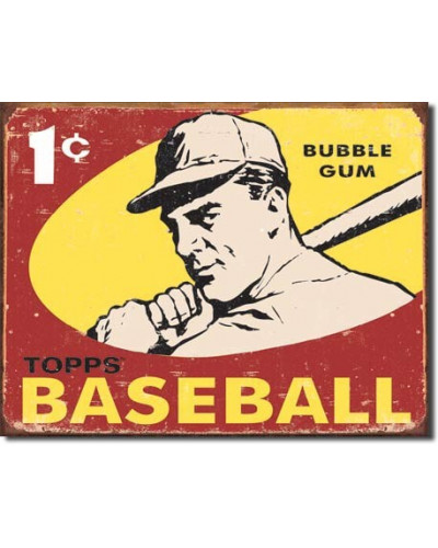 Plechová cedule Topps 1959 Baseball 32 cm x 40 cm
