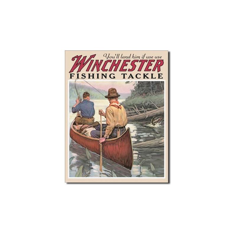 Plechová cedule Winchester Fishing Tackle 32 cm x 40 cm