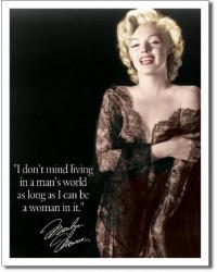 Plechová cedule Marilyn - Mans world 40 cm x 32 cm