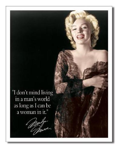 Plechová cedule Marilyn - Mans world