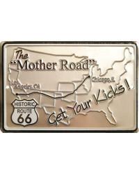 Plechová cedule The Mother Road Map 20 cm x 30 cm