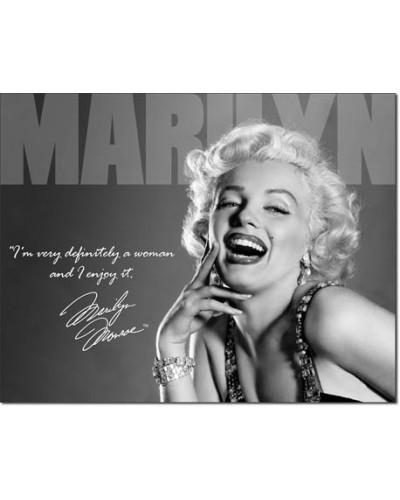 Plechová cedule Marilyn - Definately 40 cm x 32 cm