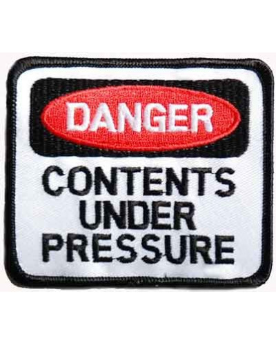 Moto nášivka Danger Under pressure