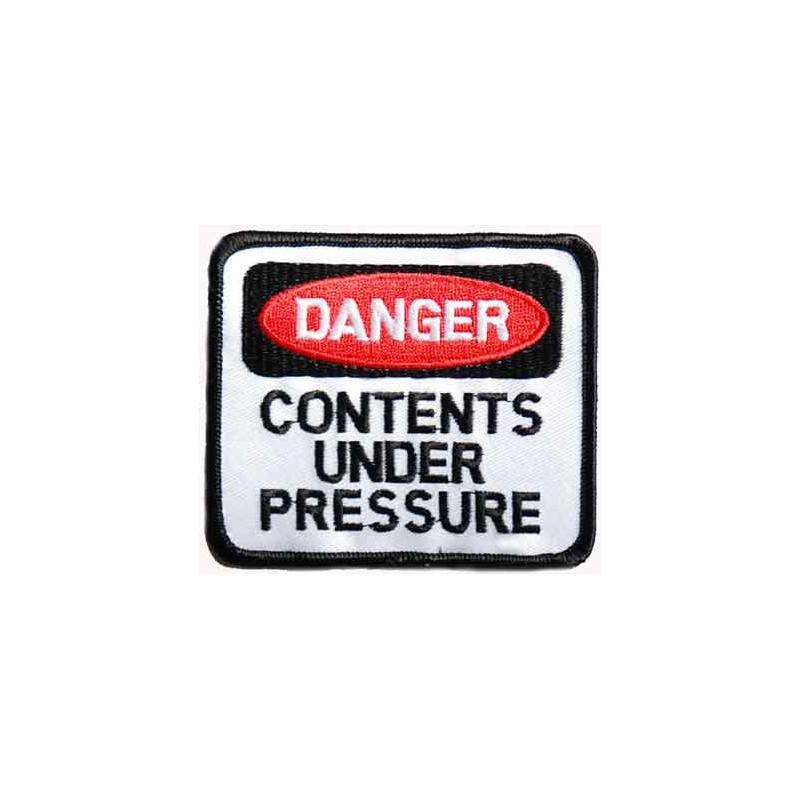 Moto nášivka Danger Under pressure 9 cm x 8 cm