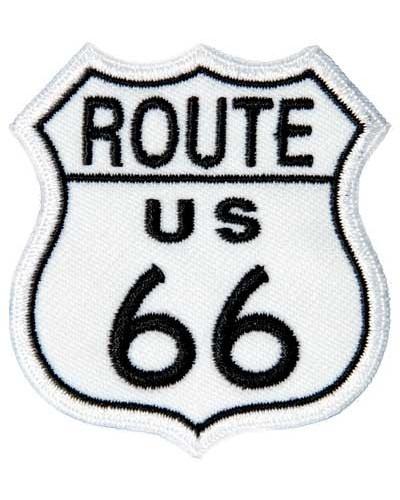 Moto nášivka Route 66 malá 5 cm x 5 cm
