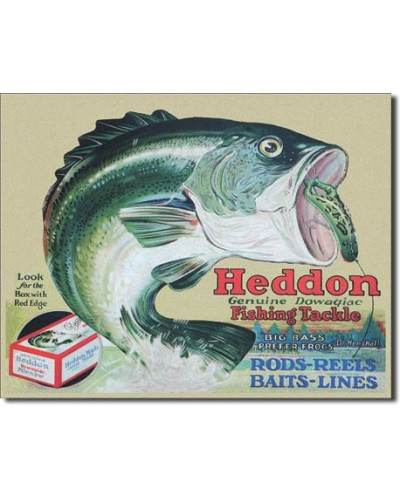 Plechová cedule Heddon Frog 32cm x 40 cm