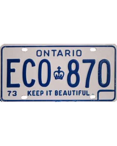 Kanadská SPZ Ontario
