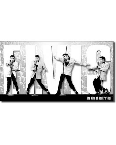 Plechová cedule Elvis King montage 22 cm x 40 cm