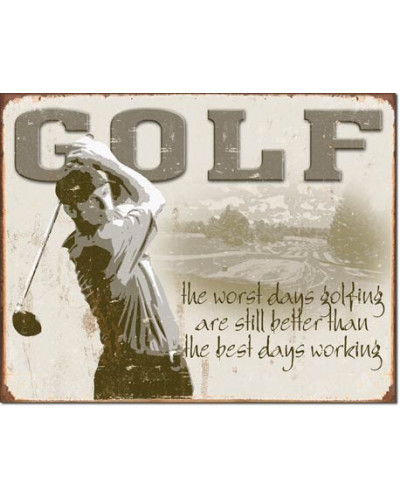 Plechová cedule Golf Best Days 40 cm x 32 cm