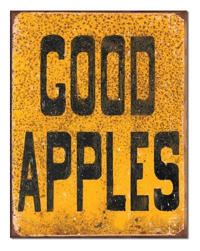 Plechová cedule Good Apples