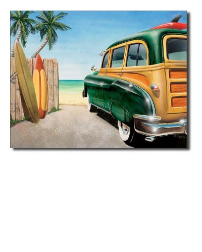 cedule Retro Auto Beach Woody