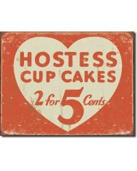 Plechová cedule Hostess 2 for 5 cents 42 cm x 30 cm