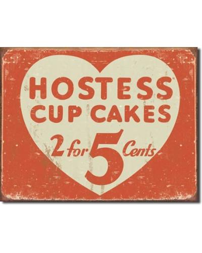 Plechová cedule Hostess 2 for 5 cents