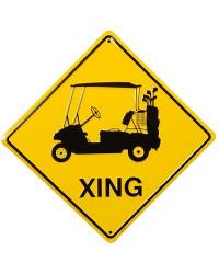 Plechová cedule Golf car xing 30 cm x 30 cm