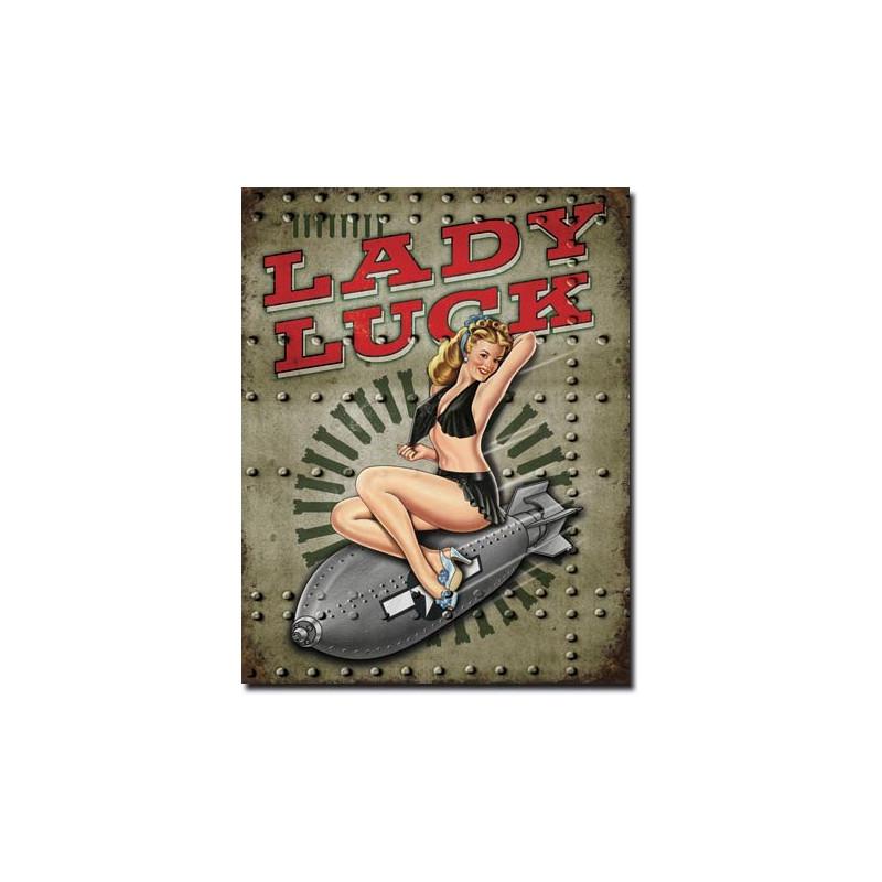 Plechová cedule Legends Lady Luck 40 cm x 32 cm