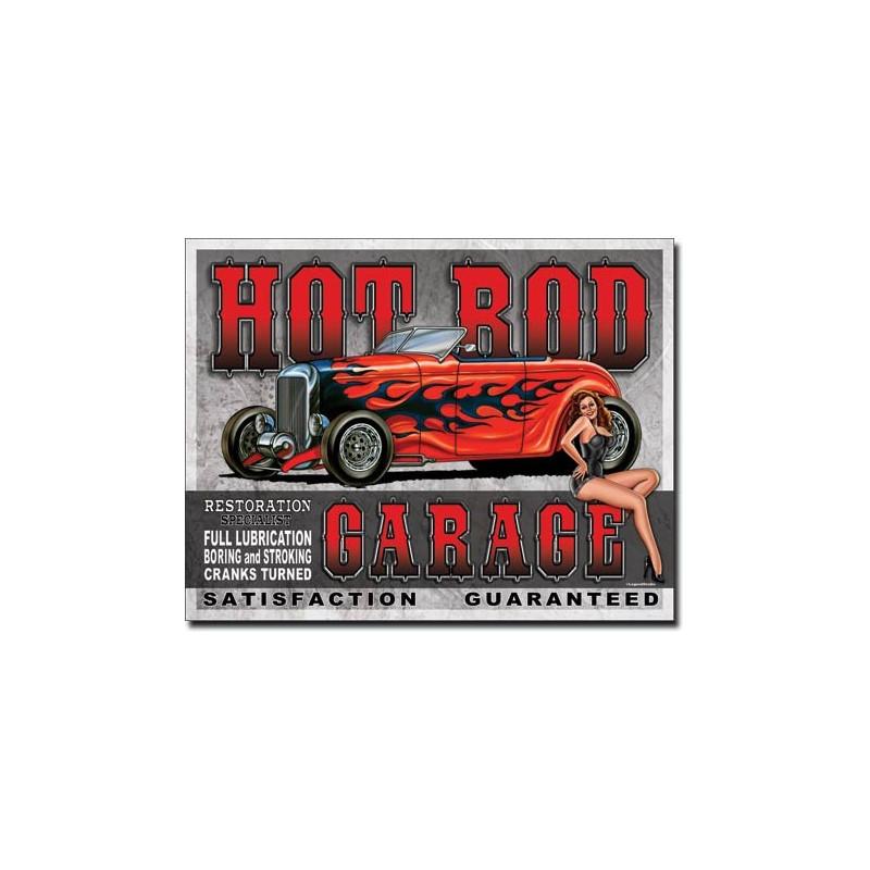 Plechová cedule Legends - Hot Rod Garage