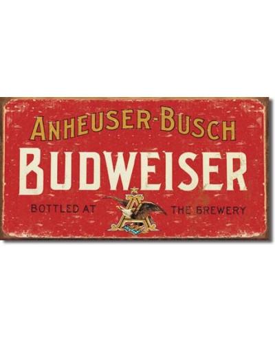 Plechová cedule Budweiser - Weathered 22 cm x 40 cm